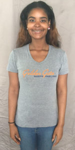 Style #1: Women's, v-neck grey. S-M only